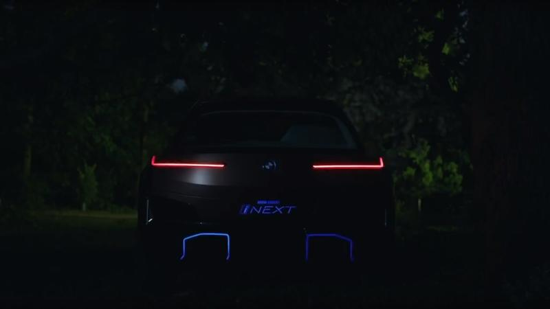 BMW iNext Teasers Give Us a Small Glimpse at the Car's Rear End and Front Fascia