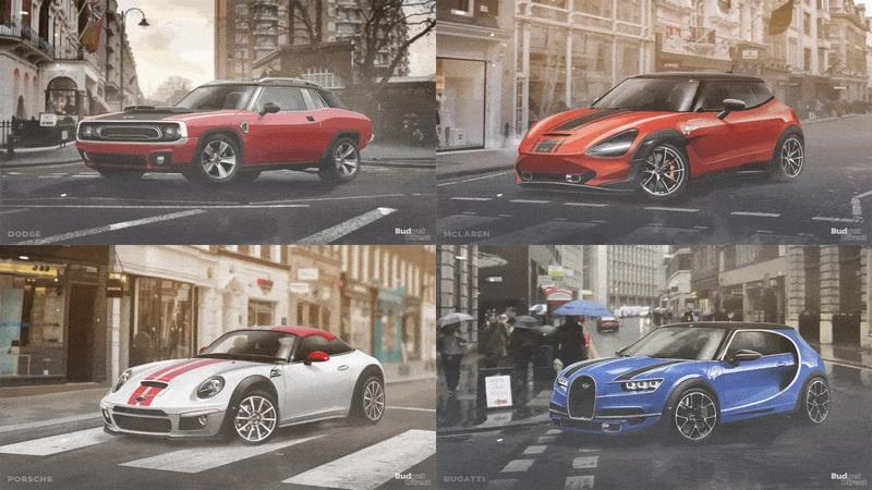 Budget Direct Renders the Mini's Style from Six Different Manufacturers