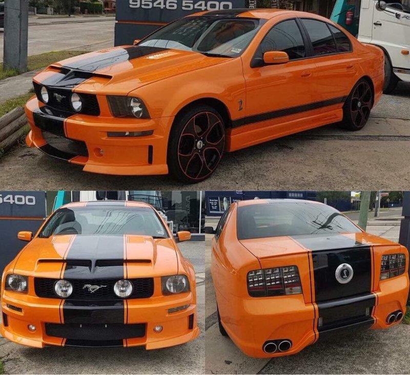 Check Out This Australian Ford Falcon Turned Ford Mustang GT500