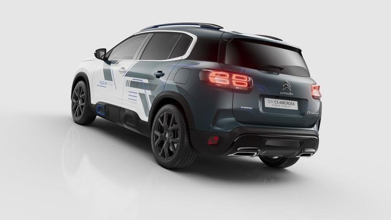 Citroen C5 Aircross Hyrbid Concept Revealed In Paris