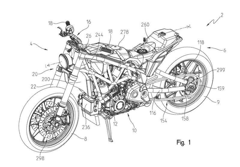 Indian's brand new FTR 1200 Street Tracker designs leaked in patents