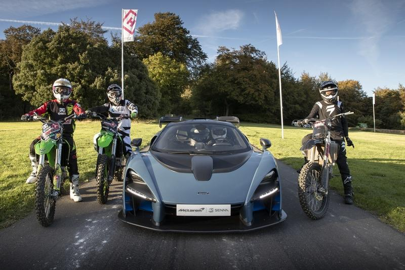 McLaren Celebrates Launch of Forza Horizon 4 with Senna vs. Motocross Bikes Race