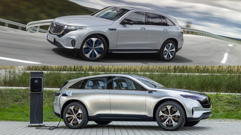 Mercedes EQC vs Mercedes Generation EQ Concept