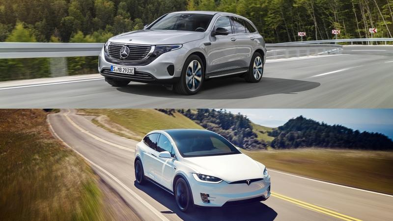 Mercedes EQC vs Tesla Model X - image 795198