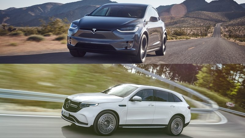 Mercedes EQC vs Tesla Model X