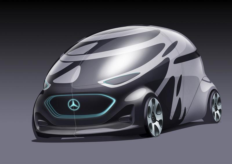 Mercedes Previews Future City Driving with Vision URBANETIC Concept
