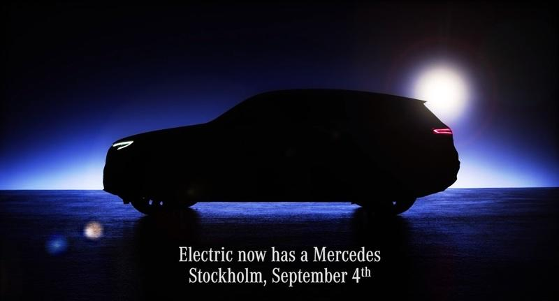 Mercedes Showcases the Silhouette of the new, 2020 EQC Electric SUV in New Teaser