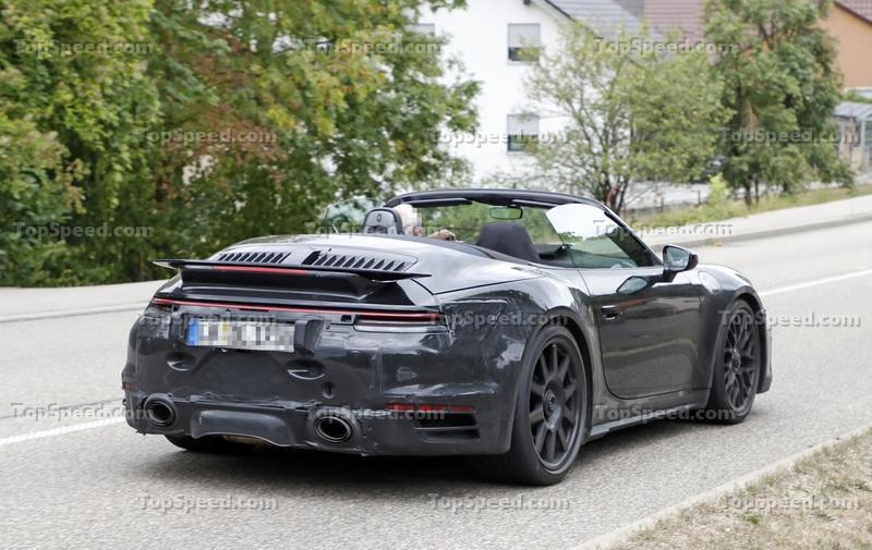 We Just Caught the 992-Gen, 2019 Porsche 911 Turbo Cabrio with Its Top Down! Exterior Spyshots - image 795733