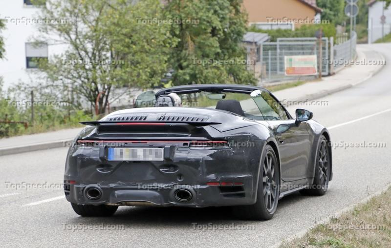 We Just Caught the 992-Gen, 2019 Porsche 911 Turbo Cabrio with Its Top Down!