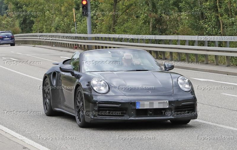 We Just Caught the 992-Gen, 2019 Porsche 911 Turbo Cabrio with Its Top Down! Exterior Spyshots - image 795725