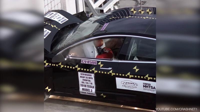 "Tesla Claims Model 3 Achieves ""Lowest Probability of Injury"" Ever Tested by NHTSA"