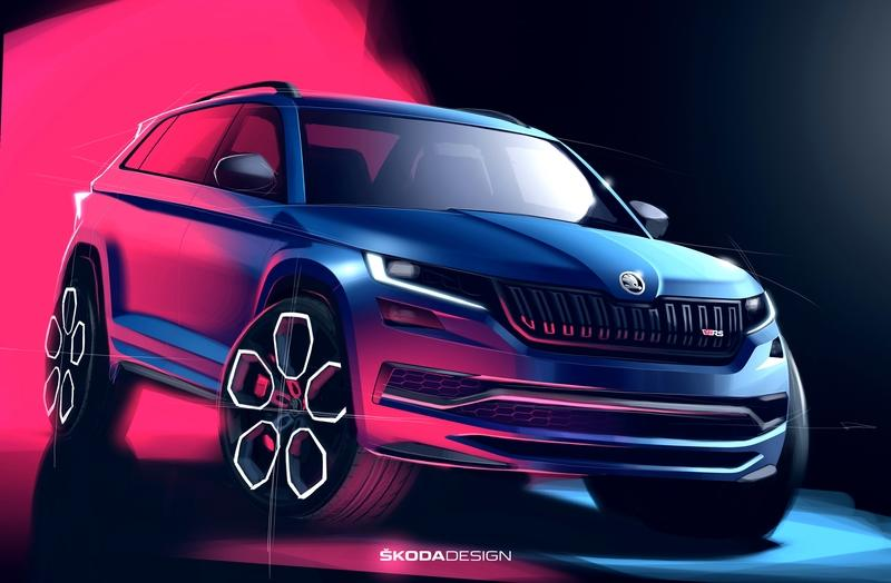 Skoda Teases the 2019 Kodiaq RS and It Looks Mean - image 796254