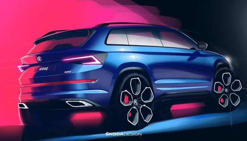 Skoda Teases the 2019 Kodiaq RS and It Looks Mean - image 796253