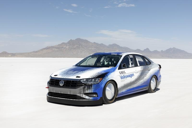 The 2019 Volkswagen Jetta Earns a Land Speed Record at the Bonneville Salt Flats