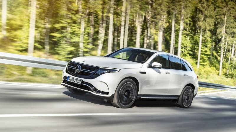 The Mercedes EQC Makes a Quiet Debut with 200 Miles of Range, 402 Horsepower, and the Ability to Hit 60 in 4.9 Seconds