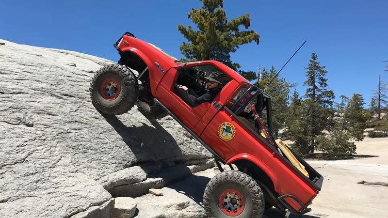 Toyota Truck Starts to Climb a Rock with Just the Torque From its Starter Motor