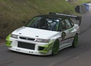 Watch a Race-Prepped Subaru Legacy Attack a Hill Climb: Video - image 795374