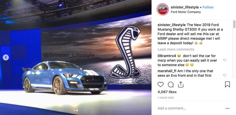 2020 Ford Mustang Shelby GT500 Revealed In Social Media Post