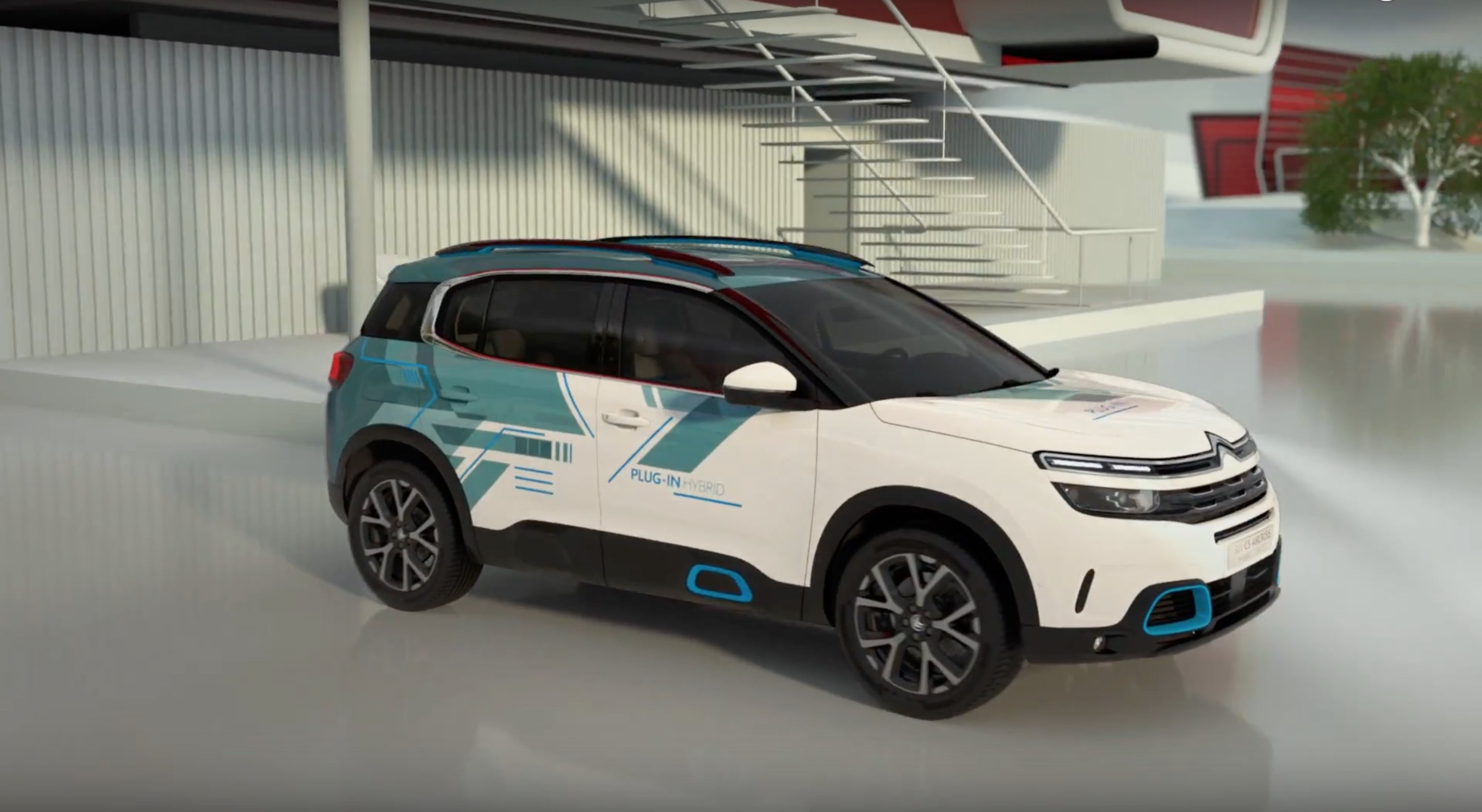 citroen c5 aircross hyrbid concept revealed in paris top speed howldb. Black Bedroom Furniture Sets. Home Design Ideas