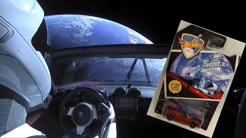 Hot Wheels Re-Issues the Tesla Roadster as a Hat Tip to its Falcon Heavy Launch