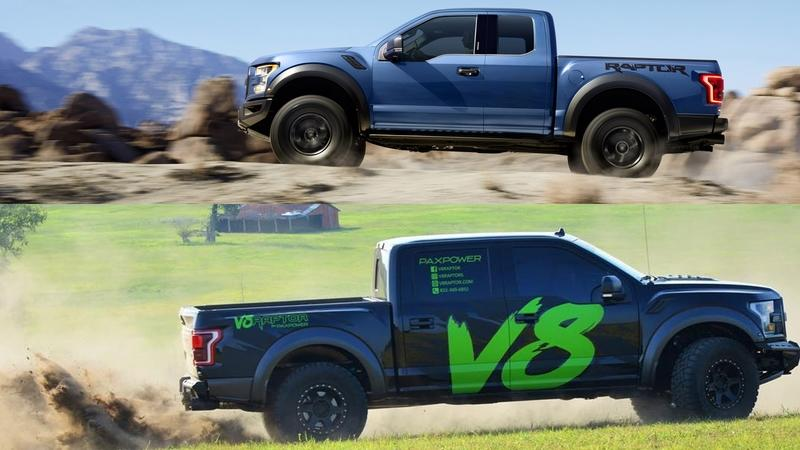 PaxPower Ford F-150 Raptor V-8 and Ford F-150 Raptor EcoBoost Comparison
