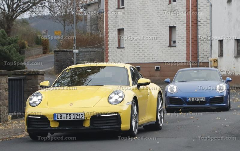 Porsche 911 992 caught testing next to the 991 - image 801606