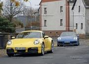 Porsche 911 992 caught testing next to the 991 - image 801607
