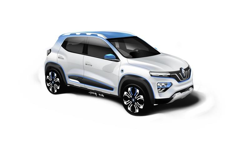Renault Shows Off a Baby Electric SUV that Goes by the Name K-ZE and Displays Some Future Technology