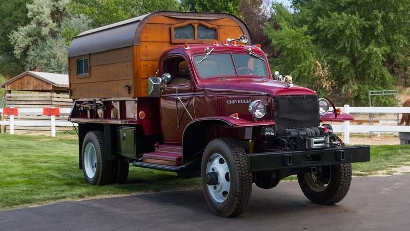 Someone is Auctioning Off a 1942 WWII Army Truck Turned Camper!