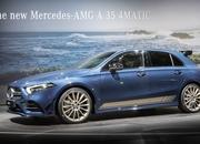 The 2019 Mercedes-AMG A35 Showed Up in Paris Wearing a Stunning Blue Tuxedo - image 798287