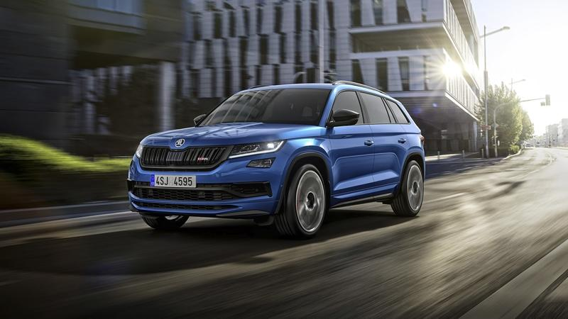 The 2019 Skoda Kodiaq RS debuts in Paris with that Boring Diesel Engine
