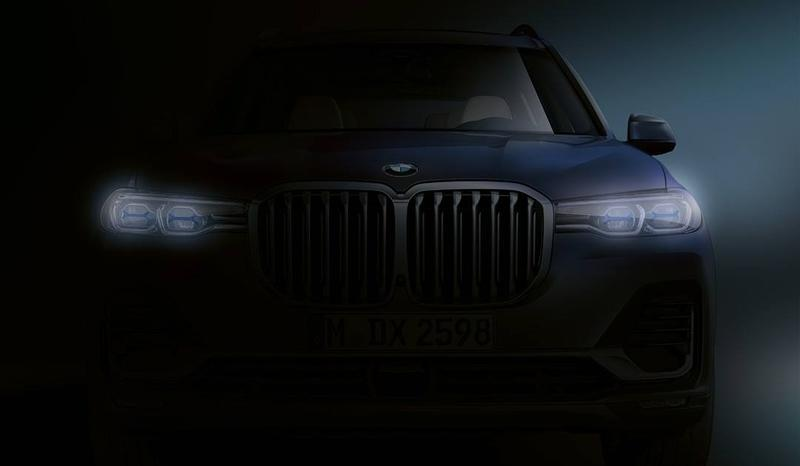 The 2020 BMW X7 has been Showcased in a Teaser Ahead of its Launch Later this Month