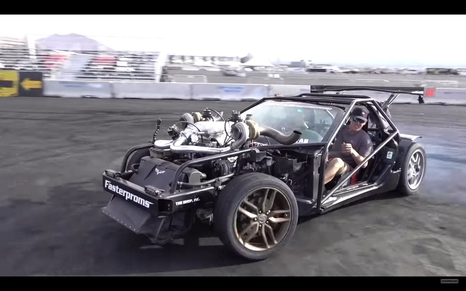The Hoonigans Go Deep With Cleetus McFarland's Insane 'Vette Kart: Video | Top Speed