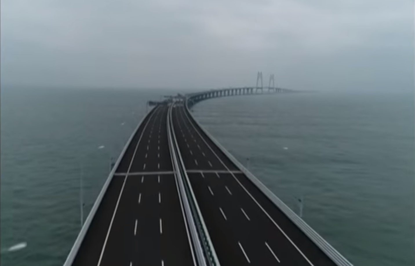 the world s longest sea bridge is strong enough to withstand anything mother nature can throw at. Black Bedroom Furniture Sets. Home Design Ideas