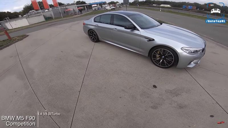 Watch a Brave Soul Max Out the F90 BMW M5 Competition on the Autobahn
