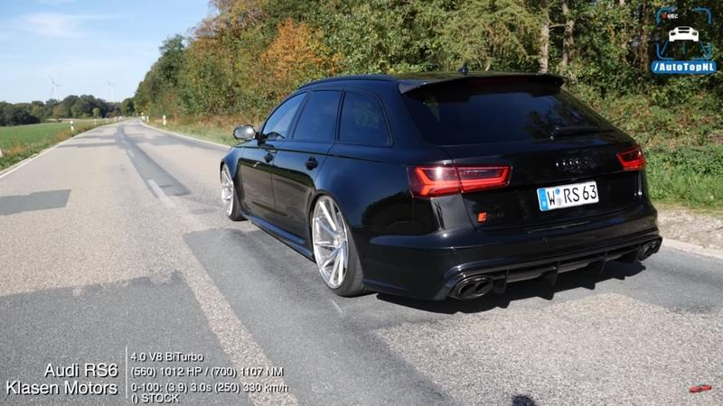 Watch this Insane Audi RS6 Hit 204 MPH From a Dig: Video