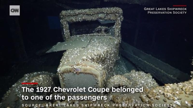 1927 Chevy Coupe Found inside Manasoo Shipwreck in Lake Huron