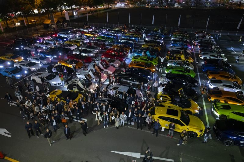 A Drove Of Italian Bulls Parades In Japan To Commemorate The Asian-Pacific Premiere Of The Aventador SVJ