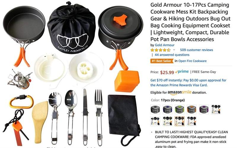Amazon Prime Shopping List: Car Camping Under $200