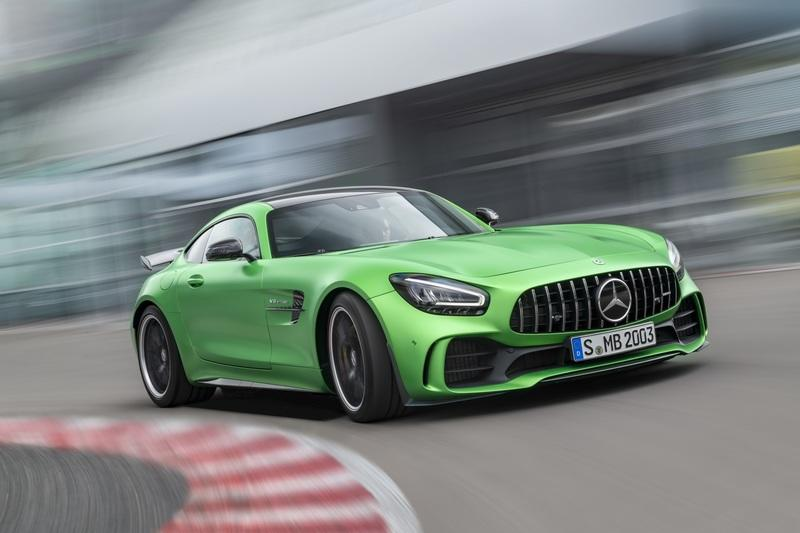 The Mercedes-AMG GT Shows Up in L.A. With DNA From the GT 4-Door Coupe Exterior - image 807124