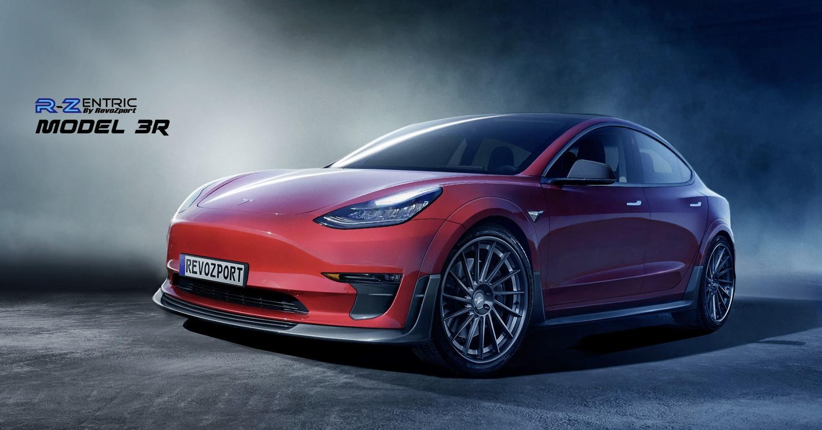 Help Your Tesla Model 3 Stand Out With Revozport Widebody Kit Top Speed