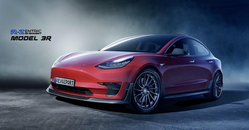 Help your Tesla Model 3 stand out with RevoZport widebody kit