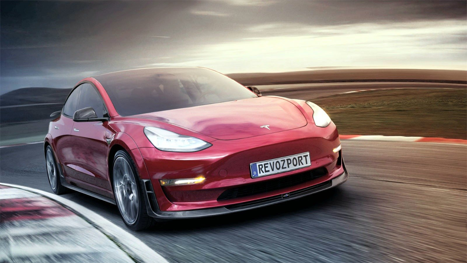 Car Body Kits >> Help Your Tesla Model 3 Stand Out With RevoZport Widebody ...