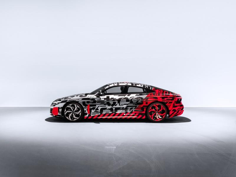 Here's the Audi E-Tron GT in Typical Audi Camo