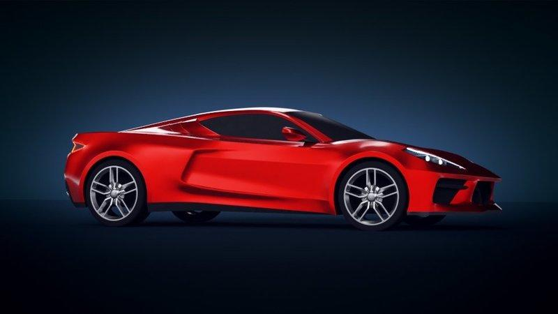 Latest Renderings of the Mid-Engined C8 Chevy Corvette Depict a True Ferrari 488 Competitor - image 805708