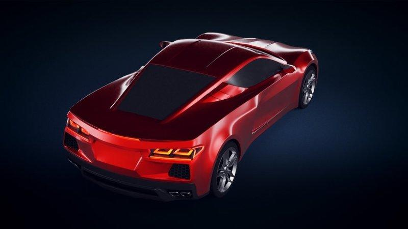 Latest Renderings Of The Mid-Engined C8 Chevy Corvette ...