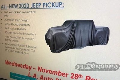The 2020 Jeep Scrambler Teased in Dealer Memo; Confirmation of L.A. Debut