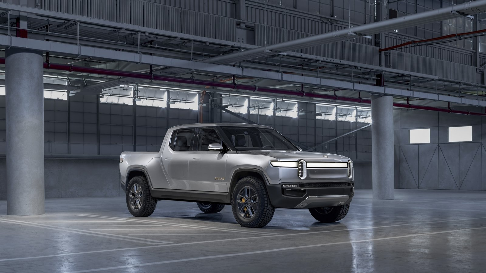 The 2020 Rivian R1T Electric Truck Middle Fingers Tesla ...