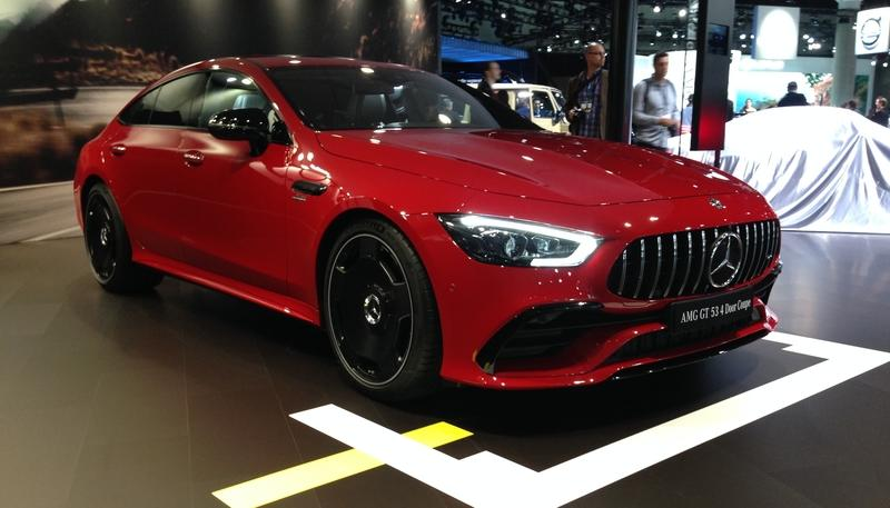 The Mercedes-AMG GT53 Showed up to the Los Angeles Auto Show in a Pretty Red Dress