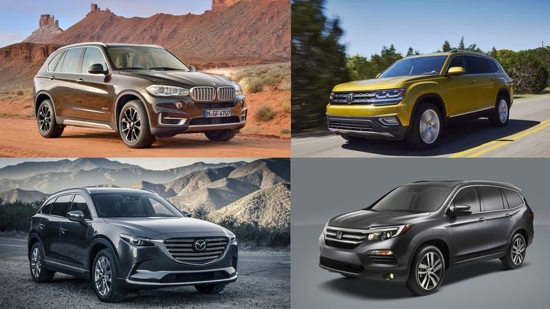 Top Midsize Crossovers and SUVs of 2018